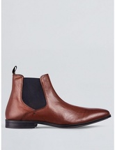 Mens Brown Leather Chelsea Boots, BROWN