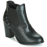 Moony Mood  CAUSETTE  women's Low Ankle Boots in Black
