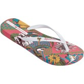 Ipanema  Amazona Flip Flops in White Flowers Print 82034  women's Flip flops / Sandals (Shoes) in White