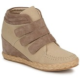 No Name  SPLEEN STRAPS  women's Shoes (High-top Trainers) in Beige