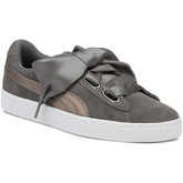 Puma  Womens Grey Pearl Heart Lunalux Suede Trainers  women's Shoes (Trainers) in Grey