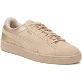 Puma  Womens Cream Tan LunaLux Suede Trainers  women's Shoes (Trainers) in Brown