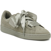 Puma  Womens Rock Grey Heart Pebble Suede Trainers  women's Shoes (Trainers) in Grey
