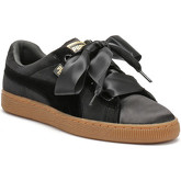 Puma  Womens Black / Gum Velvet Basket Heart Trainers  women's Shoes (Trainers) in Black