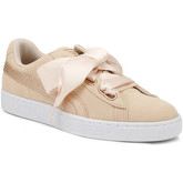 Puma  Womens Cream Tan Heart Lunalux Suede Trainers  women's Shoes (Trainers) in Brown