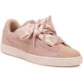 Puma  Womens Peach / Pearl Heart Pebble Suede Trainers  women's Shoes (Trainers) in Pink