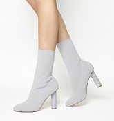 Office Appleton- High Cut Sock Boot GREY KNIT