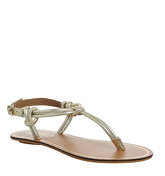 Office Sushi Toe Post Sandal GOLD LEATHER