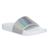 Office Orlando Pool Slider SILVER HOLOGRAPHIC