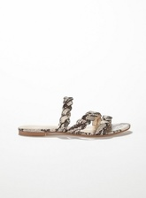 Womens Etta Grey Snake Plait Strap Sandals, Grey