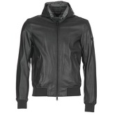 Armani jeans  LAPIDOBA  men's Leather jacket in Black