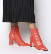 Office Alto- Pointed Block Heel Shape RED LEATHER