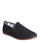 Flossy Plimsole BLACK CANVAS