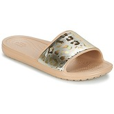 Crocs  SLOANE GRAPHIC METALLIC SLIDE W  women's Mules / Casual Shoes in Gold