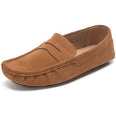 Reservoir Shoes  Moccasins suede look to put on  men's Loafers / Casual Shoes in Yellow