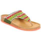 Desigual  TAJMAHAL BEADS  women's Flip flops / Sandals (Shoes) in Green