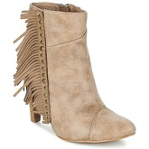 LPB Shoes  CECILIA  women's Low Ankle Boots in Beige