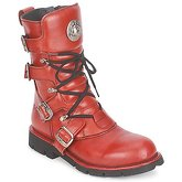 New Rock  FEARLESS  women's Mid Boots in Red