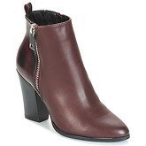 Only  BLUE ZIP HEELED BOOTIE  women's Low Ankle Boots in Red