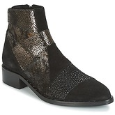 Philippe Morvan  SILKO V1 CR VEL NOIR  women's Mid Boots in Black