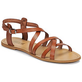 So Size  IDITRON  women's Sandals in Brown