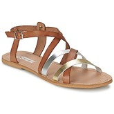So Size  AVELA  women's Sandals in Brown