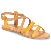 So Size  DITRON  women's Sandals in Yellow