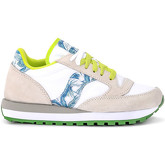 Saucony  Jazz pearl grey suede and palms sneakers  women's Shoes (Trainers) in White