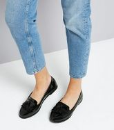 Black Patent Loafers New Look