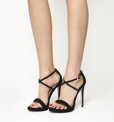 Office High Ground Slim Platform Cross Strap BLACK