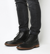 Office Ambassador Brogue Boot BLACK LEATHER