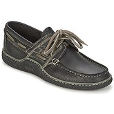 TBS  GLOBEK  men's Boat Shoes in Black